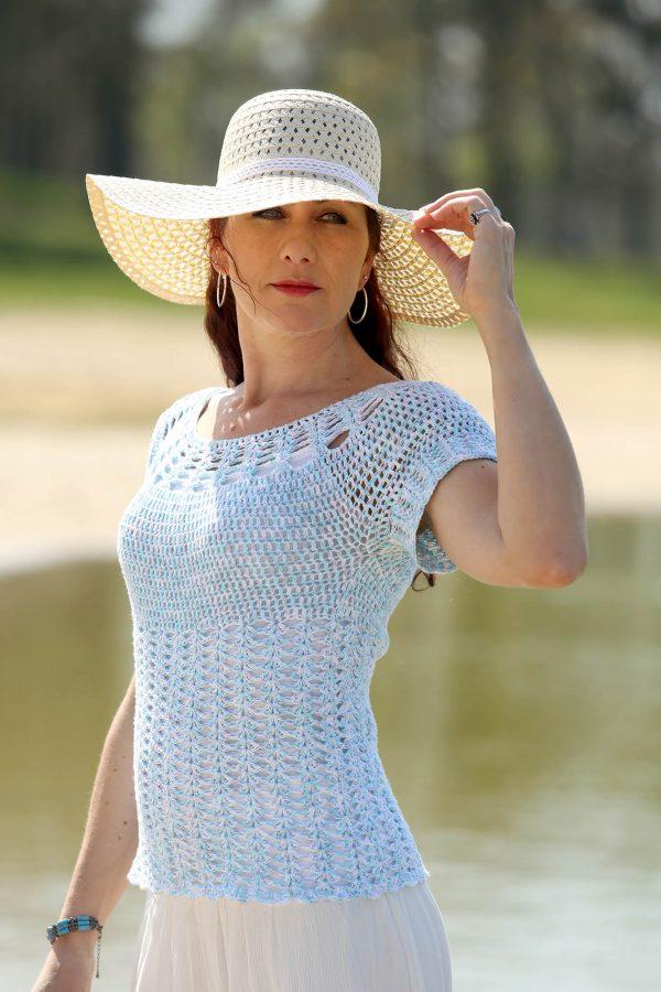 Summer Lace Top Patroon Linda Modderman Design Haakpatroon Haken