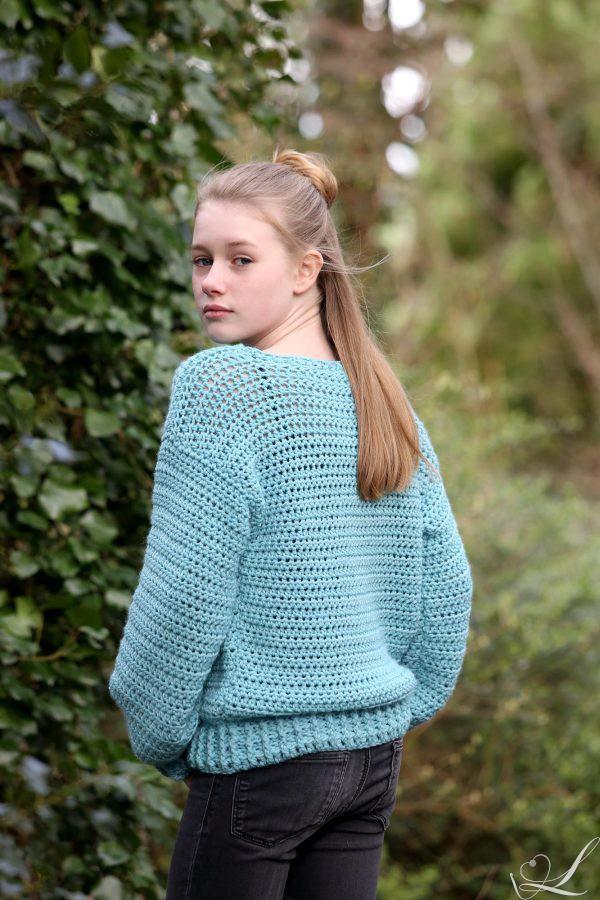Linda Modderman Design Haakpatroon Trui Meisje Teenage Spring Sweater Kinderkleding Haken