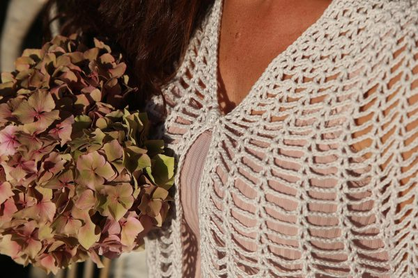 Haakpatroon Romantic Bolero - ©Linda Modderman Design Kleding Haken Patroon