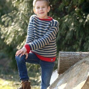 Nautic Boys Sweater Linda Modderman Haakpatroon Trui Jongen Jongenstrui