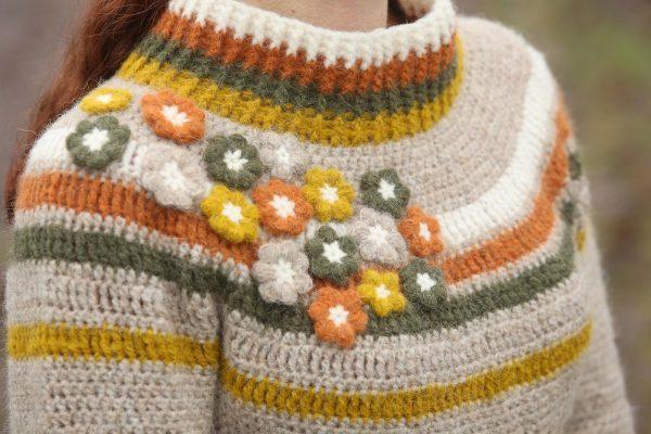 Princess Garden Sweater Haakpatroon - © Linda Modderman Design