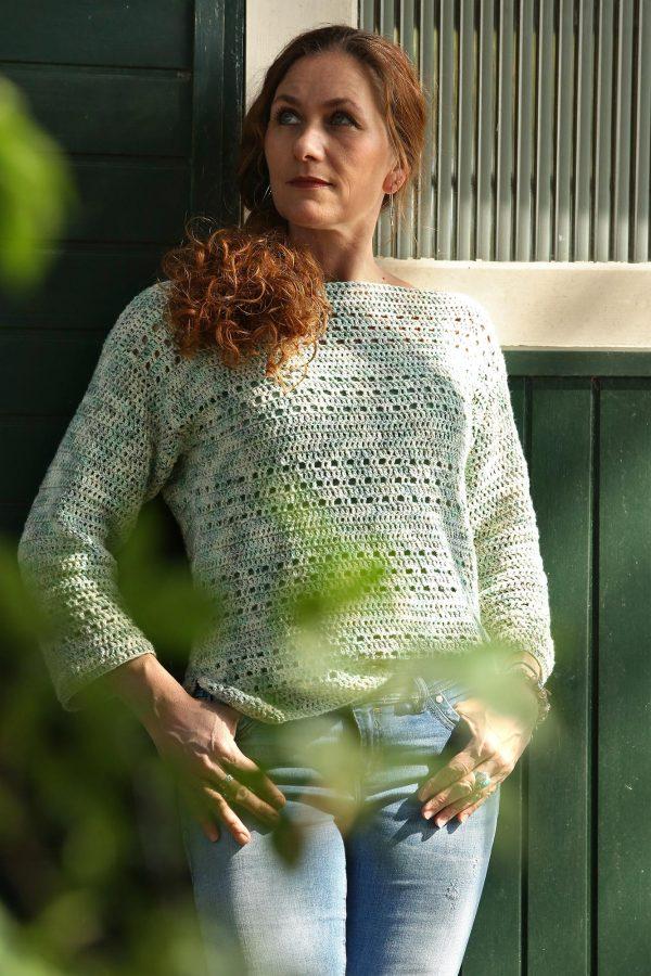 Spring is in the Air Sweater Dames Trui Haakpatroon Linda Modderman