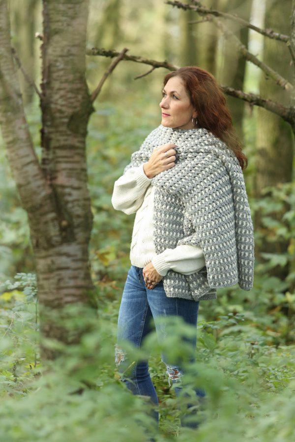 Warme Winter Wrap Linda Modderman Design Gratis Haakpatroon